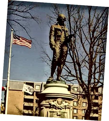 Статуя доктара Бенджаміна Раша каля Бюро медыцыны і хірургіі ў Вашынгтоне. Статуя была ўзведзена пры фінансаванні Амерыканскай медыцынскай асацыяцыі. (Крыніца фота)