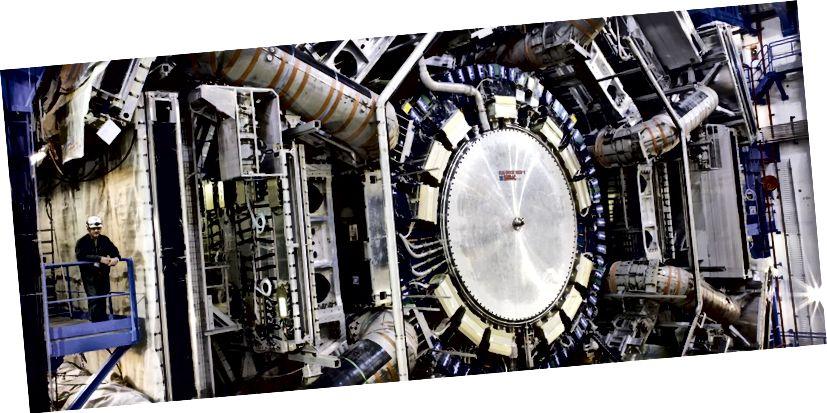 Eolaíocht mhór: an brathadóir ATLAS ag CERN. Íomhá: CERN