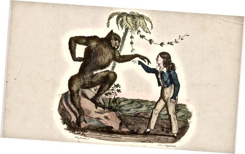 «Rôle de Joko» de Charles Mazurier, v. 1826, via la bibliothèque publique de New York, Jerome Robbins Dance Division