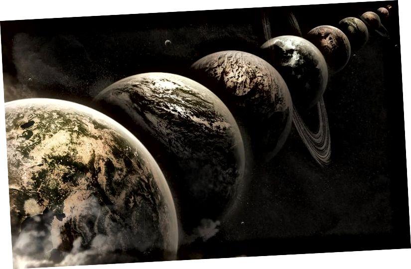 Die Multiversum-Idee besagt, dass es eine willkürlich große Anzahl von Universen wie unsere gibt, aber das bedeutet nicht unbedingt, dass es eine andere Version von uns gibt, und es bedeutet sicherlich nicht, dass es eine Chance gibt, auf eine alternative Version von sich selbst zu stoßen … Oder irgendetwas aus einem anderen Universum. (Lee Davy / flickr)
