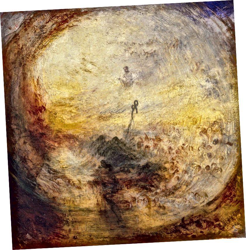 JMW Tērners: Gaisma un krāsa (Gētes teorija) - Rīts pēc bagātības - Mozus, kas raksta 1. Mozus grāmatas. Attēla pieklājība no projekta albion.