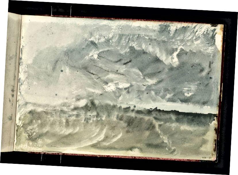 JMW Turner: 'Storm at Sea'. Obrázok so súhlasom autora.