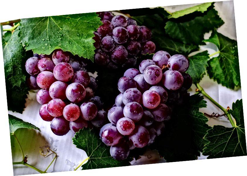 A képen: szőlő. Ugyancsak valószínűleg némi glifozát Forrás: Pexels