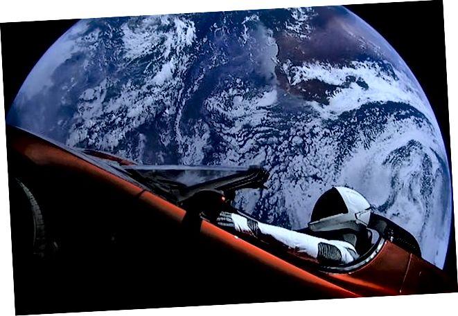 SpaceX-ovi Starman i Tesla Roadster izbačeni su u svemir u veljači 2018. godine