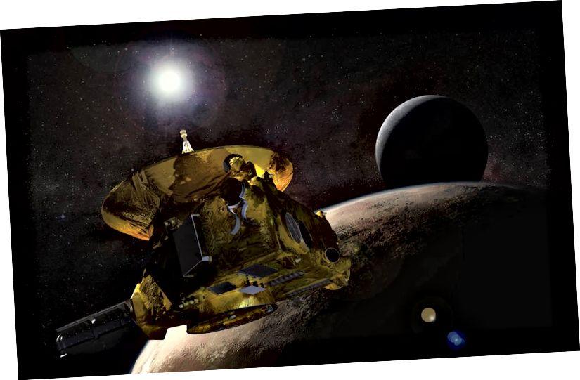 """Космическият кораб """"Нови хоризонти"""" (Кредитни изображения: НАСА)"""