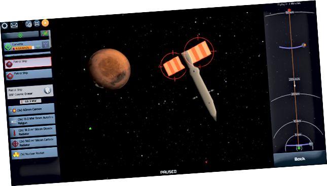 Szeretem a radiátorokat megcélozni, mert óriási, törékenyek, és minden tőle függ. Radiátorok nélkül egyetlen űrhajó energiaellátó rendszere sem működhet.