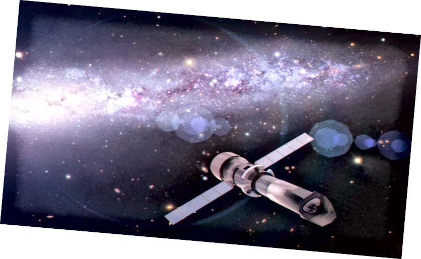 Будучы рэнтгенаўскі тэлескоп Афіны з Еўрапейскага касмічнага агенцтва. Малюнак: MPE і каманда Athena.