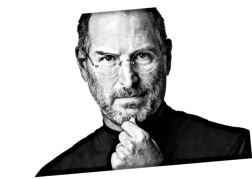 Mogul agus Máistir-Nuálaí, Steve Jobs.