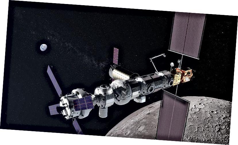 Lunar Gateway Konzeptkunst. Quelle: NASA