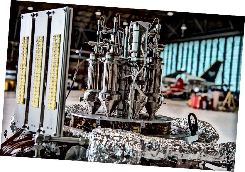 Prototyp eines Weltraumkernreaktors im Rahmen des NASA Kilopower-Programms. Quelle: NASA