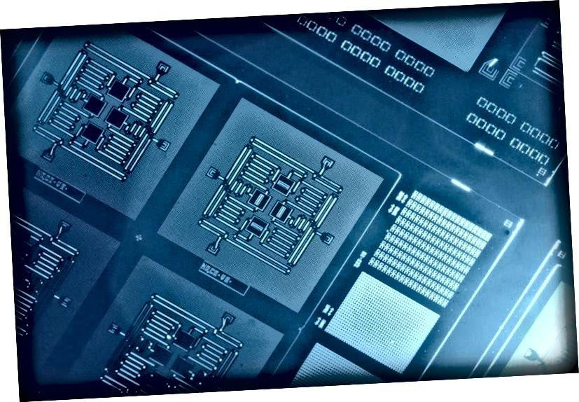 IBMs Four Qubit Square Circuit, et banebrydende fremskridt inden for beregninger, kunne føre til computere, der er kraftige nok til at simulere et helt univers. Men kvanteberegningsfeltet er stadig i sin vorden. Billedkredit: IBM-forskning.