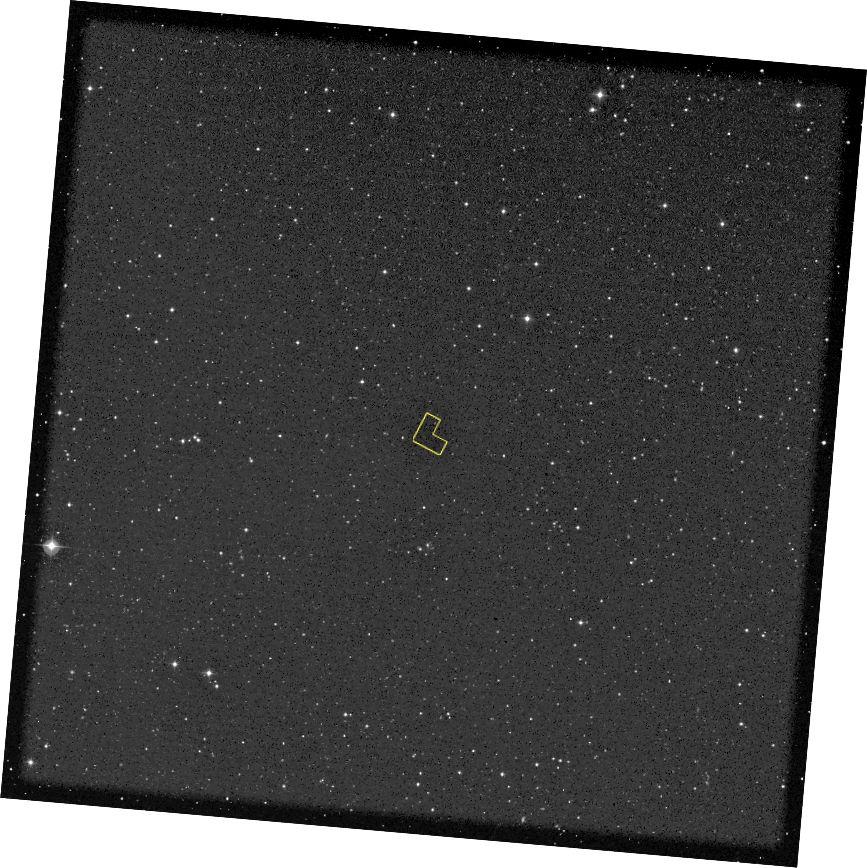 Першапачатковая мэта глыбіннага поля Хабла. Крэдыт малюнка: NASA / Digital Sky Survey, STScI.