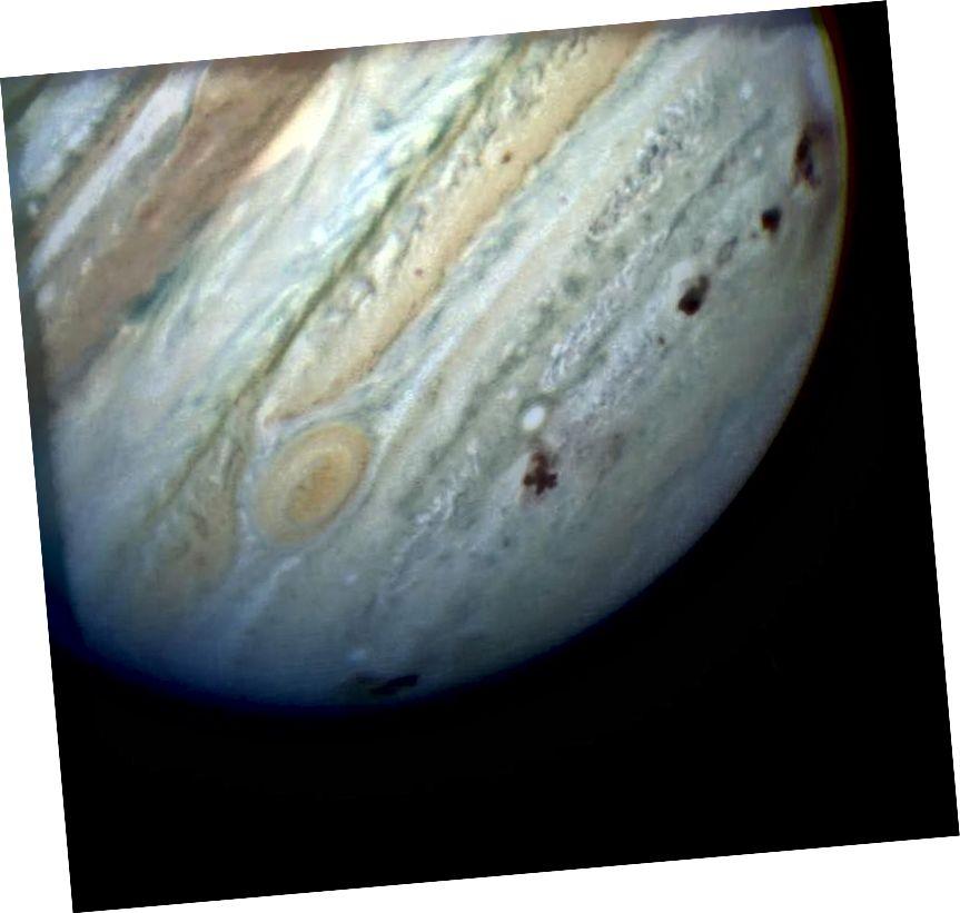 Шнары на Юпітэры ад уздзеяння каметы Шаўца-Леві. Крэдыт малюнка: Камета Каметы Касмічнага Тэлескопа Хабла і НАСА.