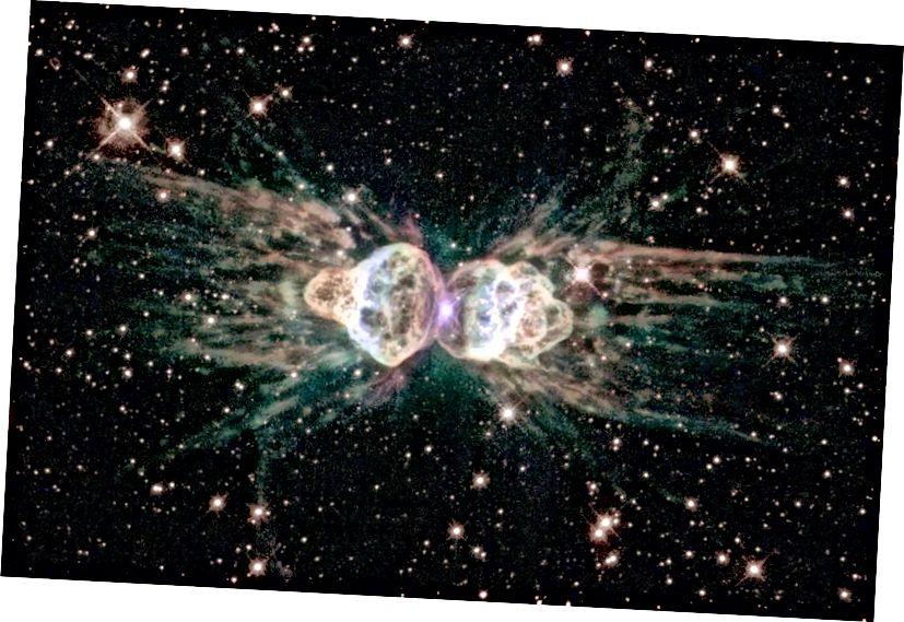 Туманнасць Мураша, як выявіў Хабл. Крэдыт малюнка: ESA / Hubble & NASA.