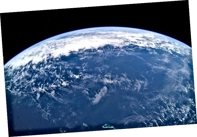 Zemljin horizont kao što se vidi na Međunarodnoj svemirskoj stanici (NASA)