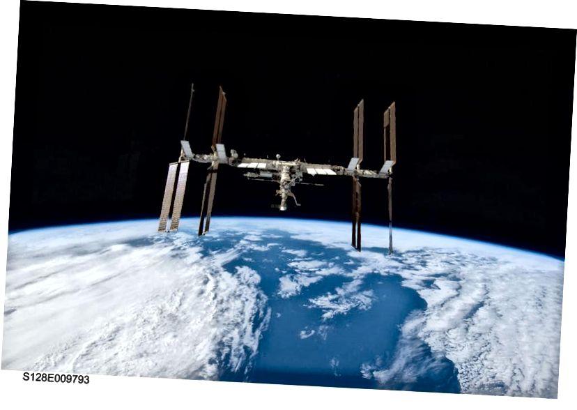 Міжнародная касмічная станцыя стварыла велізарнае асяроддзе для вывучэння ўздзеяння мікрагравітацыі на розныя сістэмы, але вельмі мала ў шляху даследавання і выяўлення на яе борце. Малюнак: НАСА.