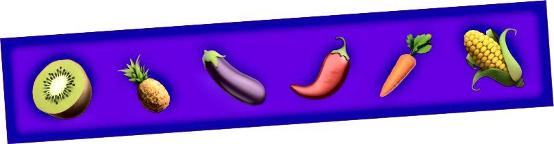 Die 6 Emojis werden von der Fabrik akzeptiert und ausgegeben