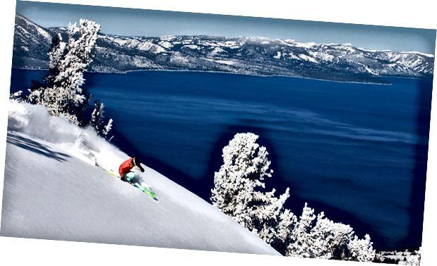 Лыжы на возеры Тахо