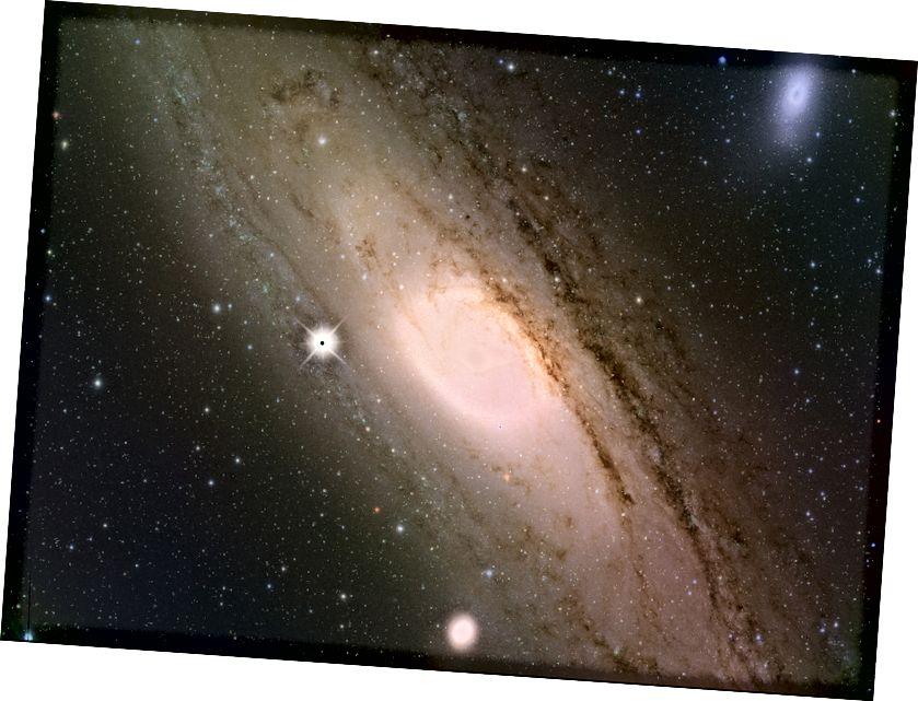 Galaksija Andromeda, poput vlastitog Mliječnog Puta, dom je tamne materije - jednostavno ne znamo što je, ali sada imamo bolju predodžbu o tome što nije. Kreditna slika: Kavli IPMU
