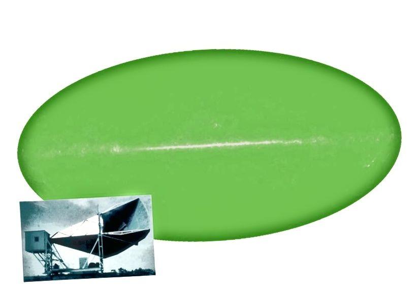 Якби ми могли бачити мікрохвильове світло, нічне небо виглядало б як зелений овал при температурі 2,7 К, «шум» у центрі сприяв більш гарячим внескам нашої галактичної площини. Це рівномірне випромінювання зі спектром чорних тіл є свідченням залишкового світіння від Великого вибуху: космічного мікрохвильового фону. Кредитний імідж: наукова команда NASA / WMAP
