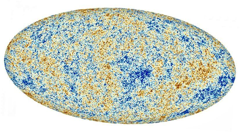 Коливання космічного мікрохвильового фону були спочатку точно виміряні COBE у 1990-х, потім більш точно WMAP у 2000-х та Планк (вище) у 2010-х. Це зображення кодує величезну кількість інформації про ранньому Всесвіті. Кредитний імідж: ESA та співпраця Планка.