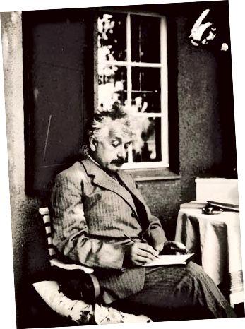 Albert Einstein ina theach samhraidh, Caputh