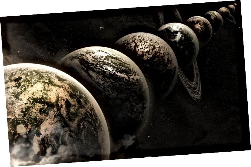 Pomysł wieloświatowy mówi, że istnieje dowolnie duża liczba Wszechświatów takich jak nasza, ale to niekoniecznie oznacza, że istnieje inna wersja nas, i na pewno nie oznacza, że istnieje szansa na napotkanie alternatywnej wersji ciebie … Lub cokolwiek z innego Wszechświata. LEE DAVY / FLICKR