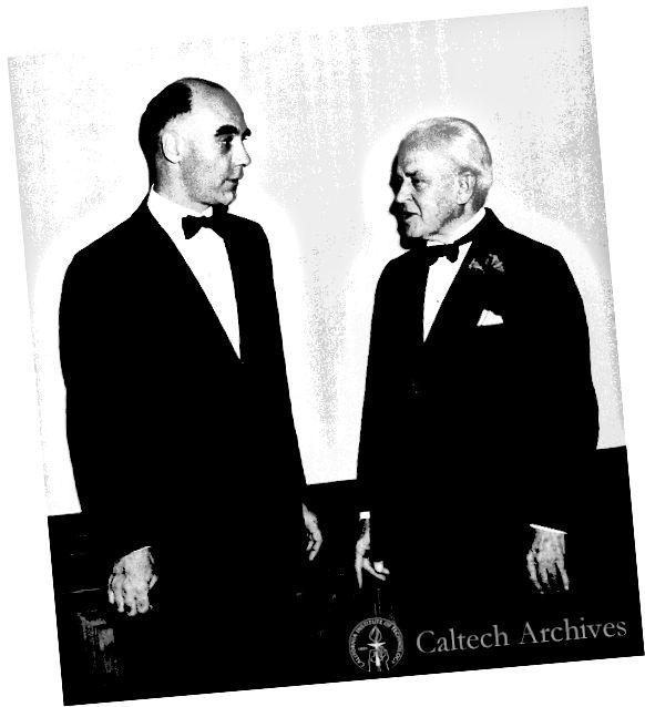 Андерсън (вдясно) и Миликан (вляво). Източник на картината