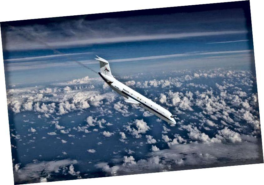Wonder Weightless de chuid NASA, ar a dtugtar an Cóiméad Vomit níos minice. Is aerlínéar modhnaithe Douglas DC-9 é seo. Creidmheas íomhá: NASA.