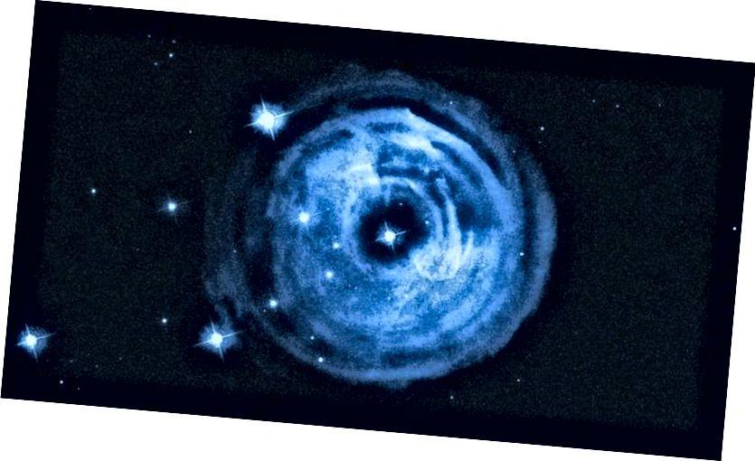 Auswurf aus dem Ausbruch des Sterns V838 Monocerotis. (NASA, ESA und HE Bond (STScI))