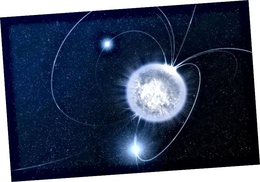 Ein Neutronenstern ist eine der dichtesten Materiesammlungen im Universum, aber es gibt eine Obergrenze für ihre Masse. Wenn Sie es überschreiten, kollabiert der Neutronenstern weiter und bildet ein Schwarzes Loch. (ESO / Luís Calçada)