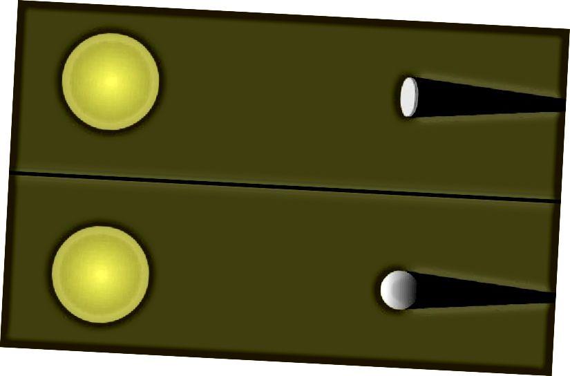 Два спосабу Зямля можа кінуць круглую цень на Месяц: быўшы сферычным аб'ектам (унізе) альбо дыскападобным аб'ектам (уверсе). Назіранні месяцовага зацьмення не могуць вызначыць сферычнасць Зямлі на іх зямлі. Крэдыт на малюнак: Windows to the Universe Original (Рэндзі Расэл), пад ліцэнзіяй cca-sa-3.0.