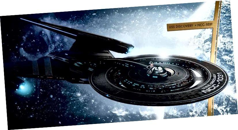 USS Discovery, NCC-1031, jest pierwszym statkiem Star Trek, który widzieliśmy w stanie podróżować za pomocą napędu zarodników, który jest szybszy niż zarówno silniki impulsowe, jak i napęd warp. Idea napędu zarodników może być fizycznie możliwa we Wszechświecie, jeśli istnieją dodatkowe wymiary przestrzenne, ale prawdopodobnie nie będzie zasilana przez sieć zarodników grzybów. (ZESTAW PRASOWY STAR TREK / CBS)