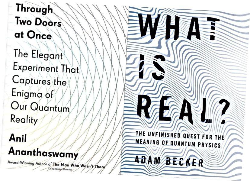 Dua buku ini, di tahun lain, bisa dengan mudah menjadi buku terbaik tentang Fisika Quantum sendiri. Pada banyak daftar orang lain, mungkin bahkan pada daftar Anda, mereka akan menjadi. (ANIL ANANTHASWAMY / DUTTON DAN ADAM BECKER / BUKU DASAR)