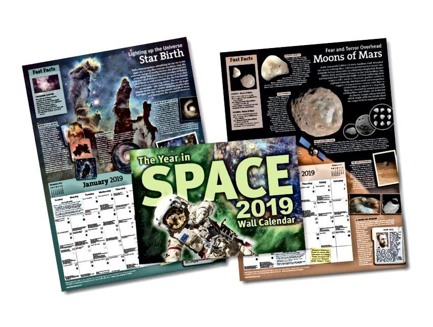 Apakah Anda suka gambar ruang angkasa yang besar dan indah, banyak informasi tentang astronomi, ruang angkasa, langit malam, dan sejarah sains? Kalender ini menampilkan semuanya, secara bulanan, dengan cara yang mungkin Anda sukai. (TAHUN DI KALENDER RUANG / STEVE CARIDDI)
