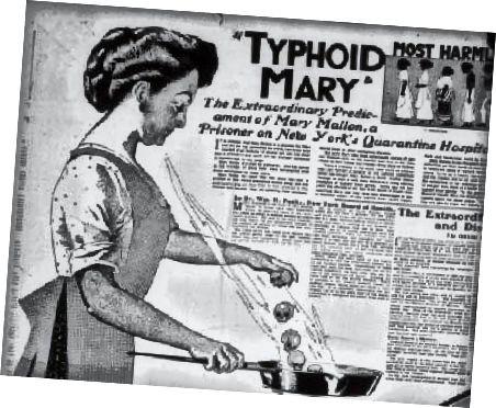 Tifus Marija kuha s lubanjama.