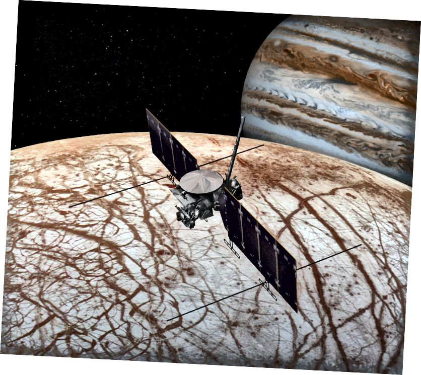 Прадстаўленне гэтага мастака паказвае касмічны карабель місіі НАСА НАСА, які распрацоўваецца для запуску дзесьці ў 2020-я.