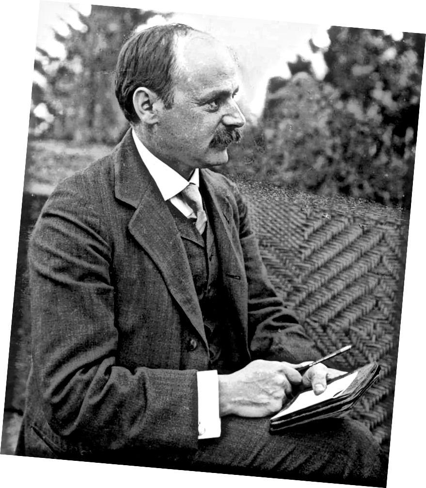 Rinne Karl Schwarzschild (1873–1916) teoiricí Einstein a bheachtú mar iarracht níos mó a fhoghlaim faoi phoill dhubha. Íomhá fearann poiblí.