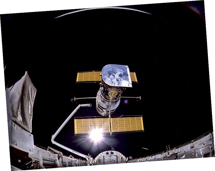 Гэта фотаздымак касмічнага тэлескопа