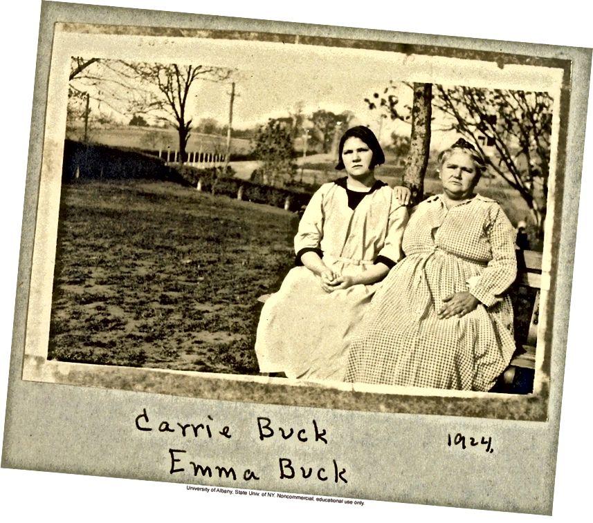Carrie Buck cùng mẹ Emma. Ảnh: Được cung cấp / Đại học Albany, SUNY