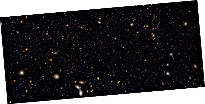 Як мага большая наша назіральная Сусвет і столькі, колькі мы бачым, гэта толькі маленькая частка таго, што павінна быць там. (NASA, ESA, R. WINDHORST, S. COHEN, M. MECHTLEY (ASU), R. O'CONNELL (UVA), P. MCCARTHY (CARNEGIE OBS), N. HATHI (UC RIVERSIDE), R. RYAN ( UC DAVIS) і H. YAN (TOSU))