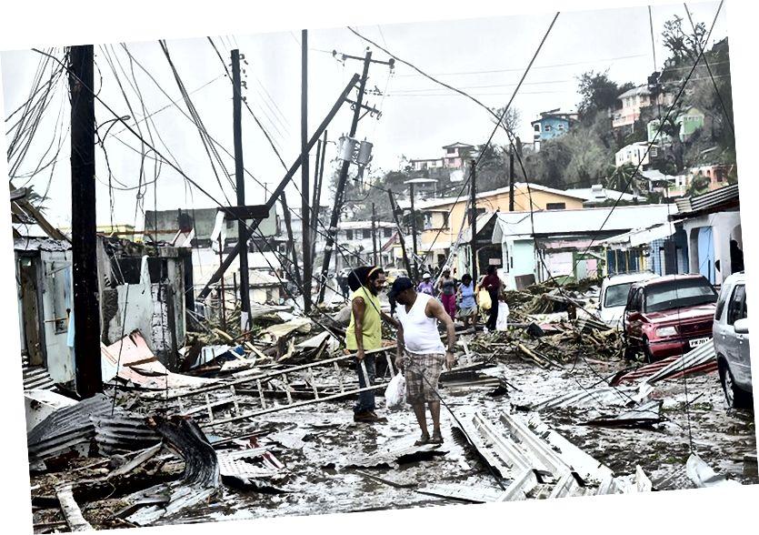 Разбурэнне ў раёне Розо, Пуэрта-Рыка пасля ўрагану Марыя.
