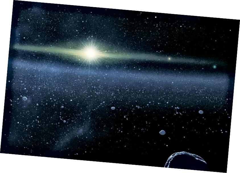 Далёка за межамі Сонца і планет нашай Сонечнай сістэмы існуе пояс Койпера. Тым не менш, нават там ёсць шэраг іншых аб'ектаў, якія часта мудрагелістыя і блытаюць арбітальныя ўласцівасці. Мы спадзяемся ў хуткім часе выявіць правільнае тлумачэнне таго, чаму яны такія, як яны ёсць. (ПРЫКЛЮЧАЮЦЬ УНІВЕРСАЛІТСЬКАЯ УНІВАРЫЯЛЬНАЯ ПРАЦІЯ Джона Хапкінса / ЛІБАРАТАРЫЯ / ІНСТЫТУТ ПІВНІЧНЫХ ПАЎДЗЕЙ (JHUAPL / SWRI)