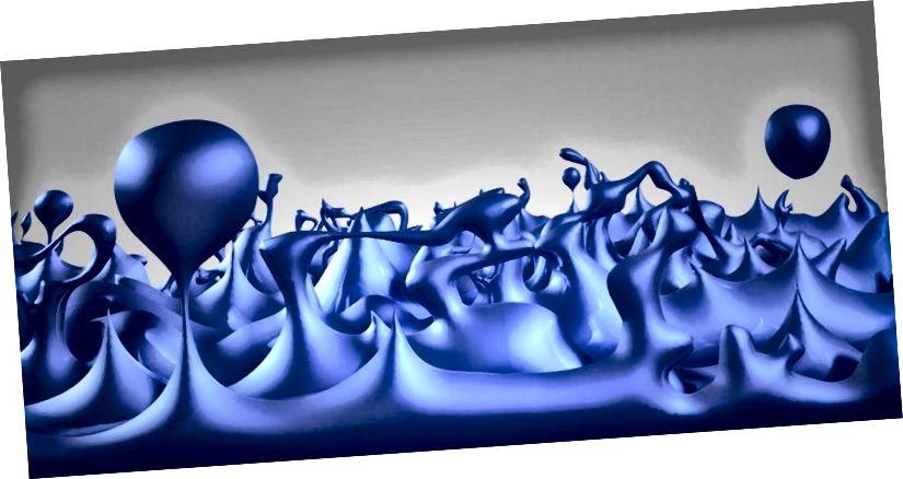 Ein Beispiel für das frühe Universum, das aus Quantenschaum besteht, bei dem die Quantenfluktuationen auf kleinsten Skalen groß, vielfältig und wichtig sind. Bildnachweis: NASA / CXC / M.Weiss.