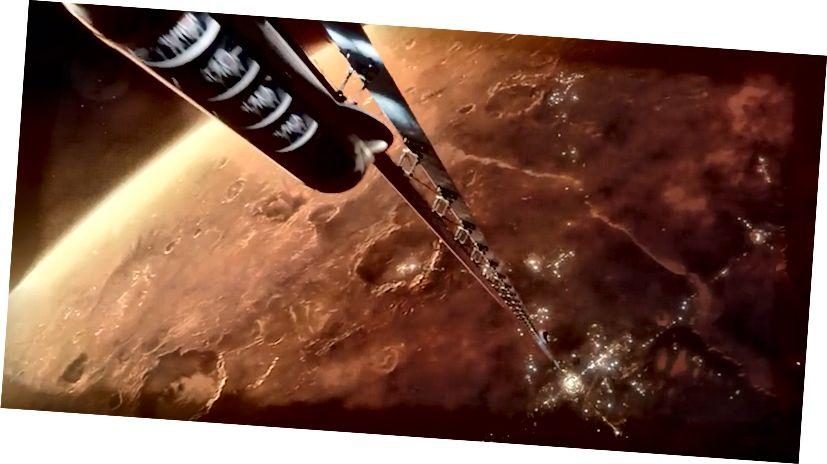 Μια έννοια του διαστημικού ανελκυστήρα του Άρη.