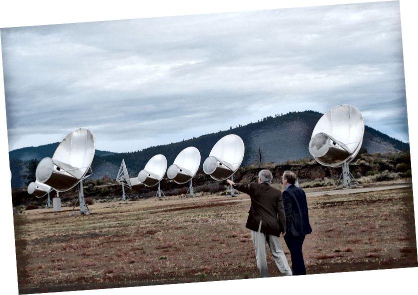 Allen teleskopski niz potencijalno je sposoban otkriti jak radio signal iz Proxima b ili bilo kojeg drugog zvjezdanog sustava s dovoljno jakim radio prijenosima. Uspješno je surađivao s drugim radio-teleskopima na izuzetno dugim osnovnim vrijednostima da bi riješio horizont događaja crne rupe: vjerojatno da je to krunsko postignuće. (WIKIMEDIA COMMONS / COLBY GUTIERREZ-KRAYBILL)