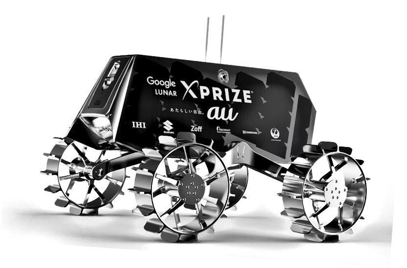 1: TeamIndus Rover ECA. 2: японский ровер Сорато. Источник: GLXP