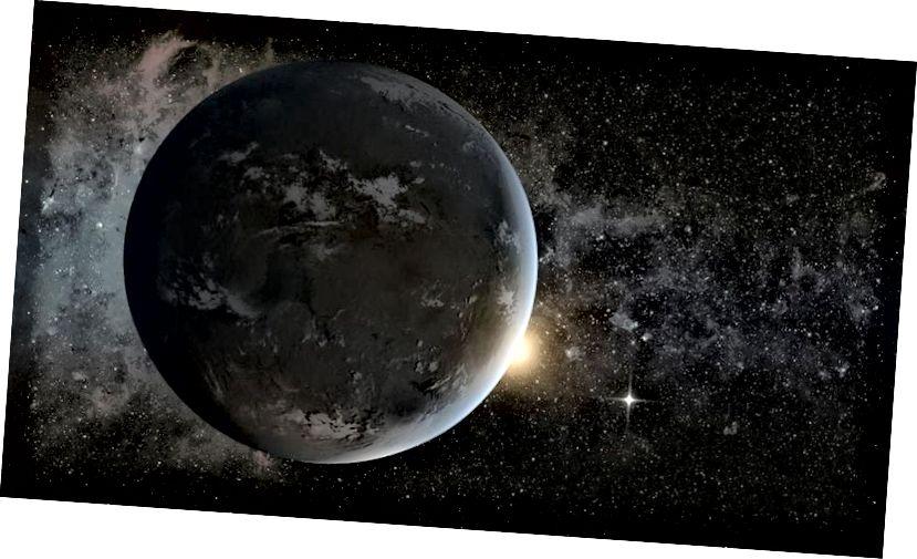 Die Darstellung eines potenziell bewohnbaren Exoplaneten durch einen Künstler, der einen sonnenähnlichen Stern umkreist. WFIRST ist eine unserer besten Möglichkeiten, um mehr über das Universum und die darin enthaltenen Planeten zu erfahren, die der Erde und anderen Welten des Sonnensystems ähneln können. Der Haushaltsvorschlag für das Geschäftsjahr 2019, der gerade von der Trump-Administration veröffentlicht wurde, tötet nicht nur mehrere NASA-Geowissenschaftsmissionen und das Office of Education, sondern beendet auch die Flaggschiff-Mission der NASA in den 2020er Jahren. (NASA Ames / JPL-Caltech)