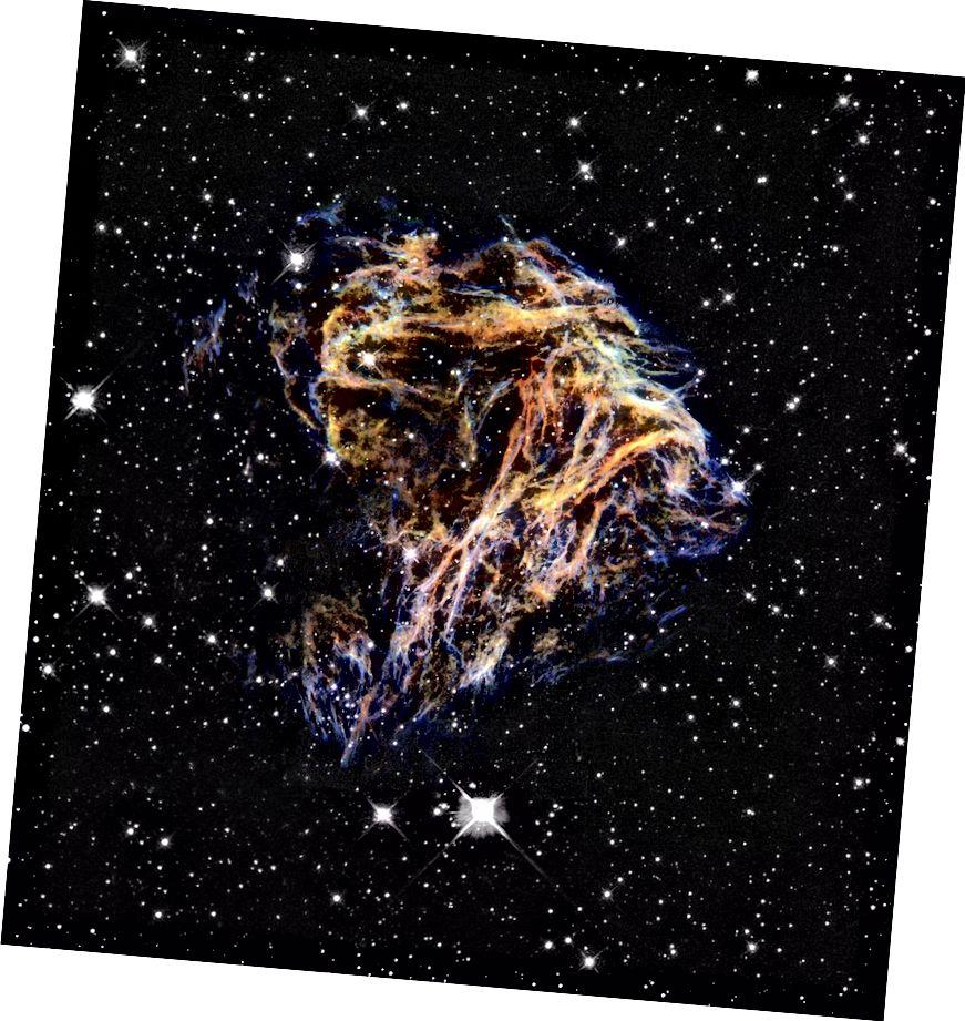 El romanent de la supernova N 49, que es troba dins de la nostra pròpia Via Làctia. Crèdit d'imatge: NASA / ESA i The Hubble Heritage Team (STScI / AURA).