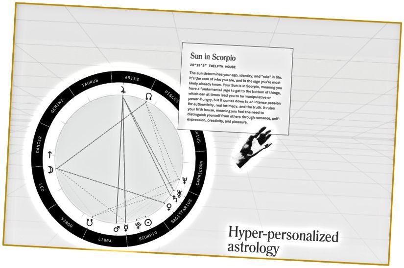 Sur le site Web de Co-Star, la grille de l'infini artificiel est une belle touche pour connecter les humains à «l'immensité» en ligne et dans l'espace lointain.